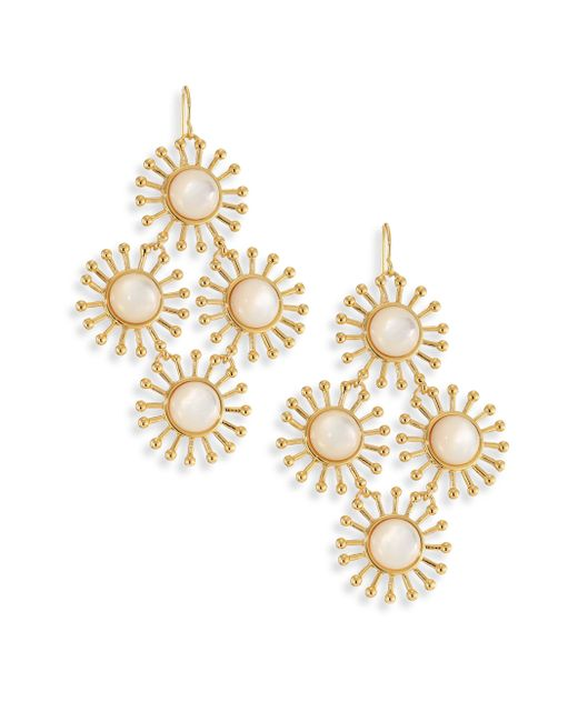 Nest | Metallic Starburst Mother-of-pearl Chandelier Earrings | Lyst