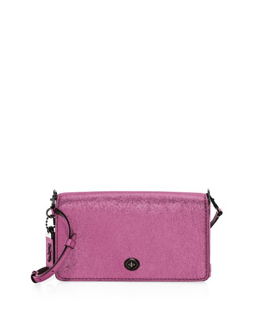 COACH - Purple 1941 Metallic Leather Dinky Crossbody Bag - Lyst