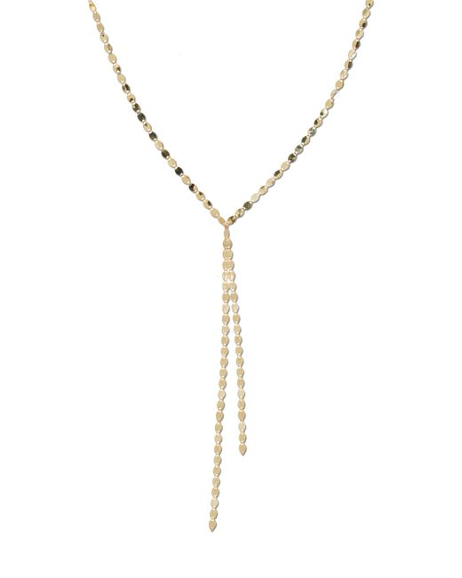 Lana Jewelry - Metallic Nude Duo Drop 14k Yellow Gold Lariat Necklace - Lyst