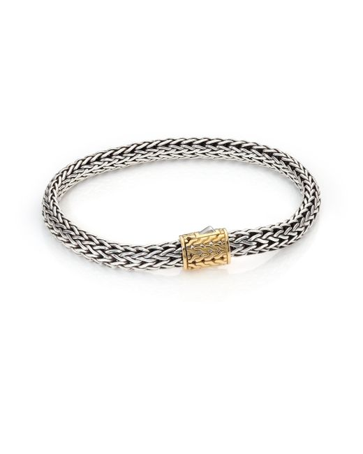John Hardy   Metallic 18k Gold Accented Sterling Silver Chain Bracelet   Lyst