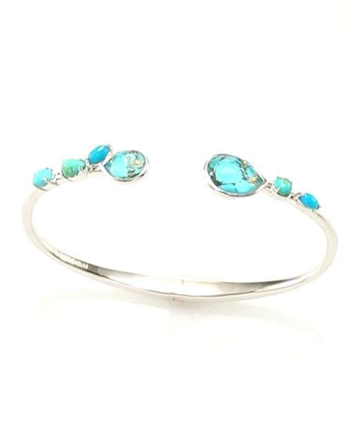 Ippolita - Metallic 925 Rock Candy Small Double Mixed Stone Stations Hinged Bangle - Lyst