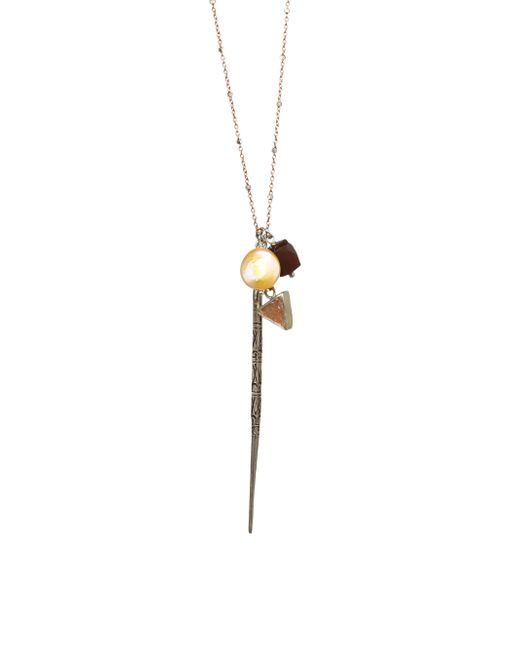 Chan Luu - Metallic 9mm Peach Pearl, Chocolate Moonstone, Natural Tan Agate & Sterling Silver Pendant Necklace - Lyst