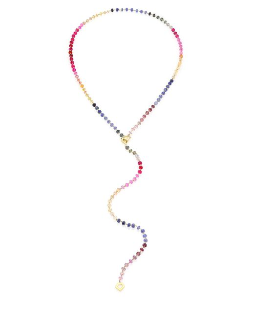 Ron Hami | Multicolor Sapphire & 18k Yellow Gold Beaded Lariat Necklace | Lyst
