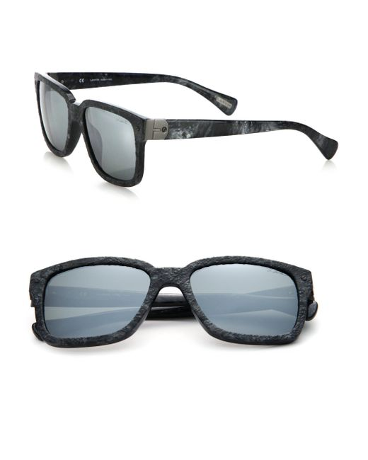 Lanvin - Gray 54mm Square Sunglasses for Men - Lyst