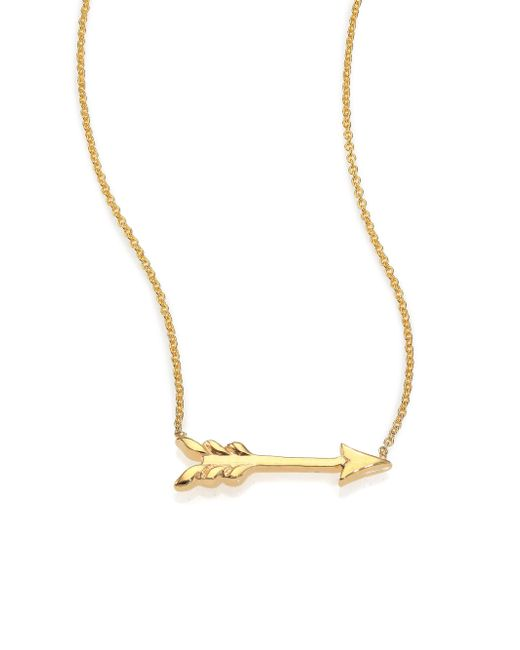 Roberto Coin | Metallic Tiny Treasures 18k Yellow Gold Arrow Necklace | Lyst