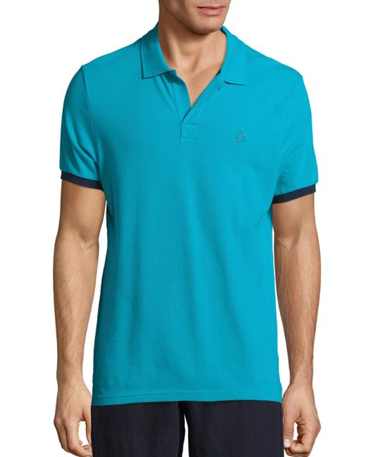 Vilebrequin | Blue Pique Polo T-shirt for Men | Lyst