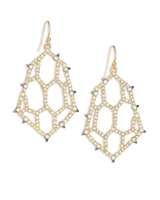 Alexis Bittar | Metallic Elements Spiked Crystal Honeycomb Drop Earrings | Lyst