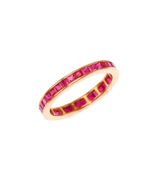 Meira T - Multicolor Ruby & 14k Rose Gold Ring - Lyst