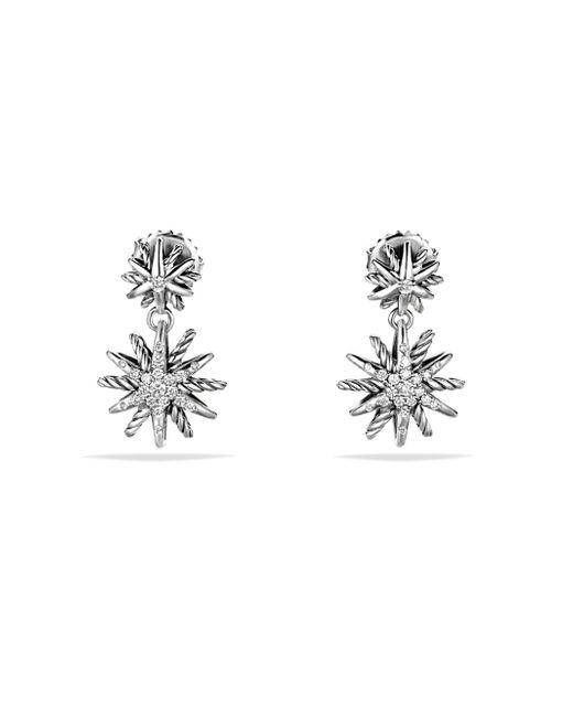 David Yurman - Metallic Starburst Double-drop Earrings With Diamonds - Lyst