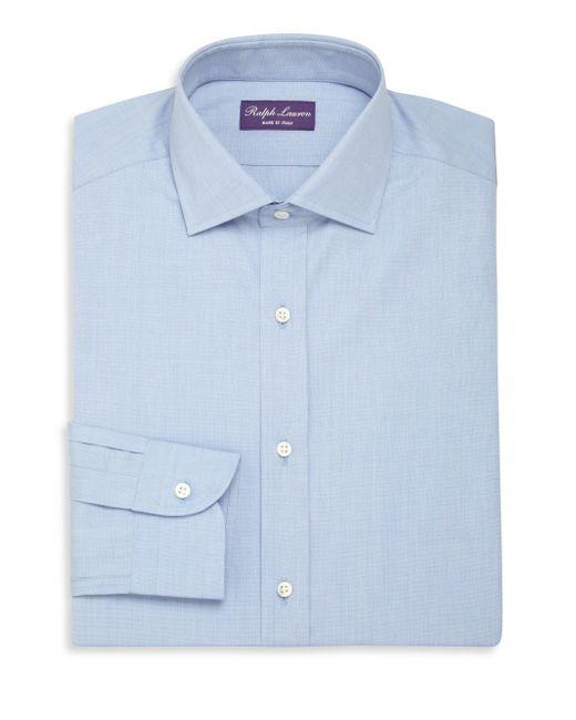 Ralph Lauren Purple Label - Blue Aston Tailored Fit Cotton Dress Shirt for Men - Lyst