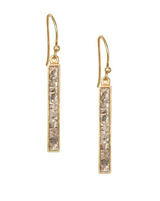 Shana Gulati - Metallic Jemma Miladi Raw Diamond & 18k Yellow Goldplated Rectangle Earrings - Lyst