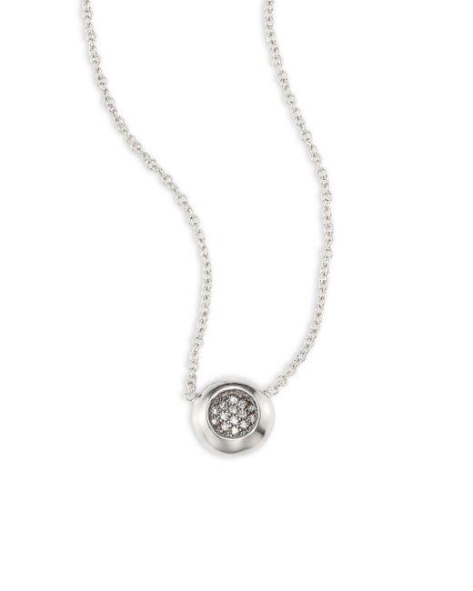 Melissa Kaye - Metallic Caren Diamond & 18k White Gold Pendant Necklace - Lyst