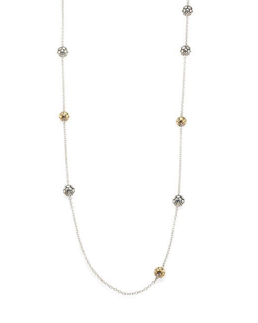 John Hardy - Metallic Dot Two-tone Station Necklace - Lyst
