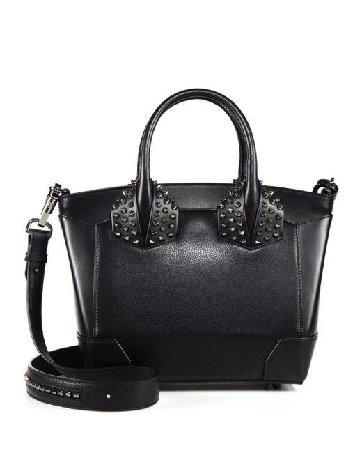 Christian Louboutin - Black Eloise Small Studded Leather Satchel - Lyst