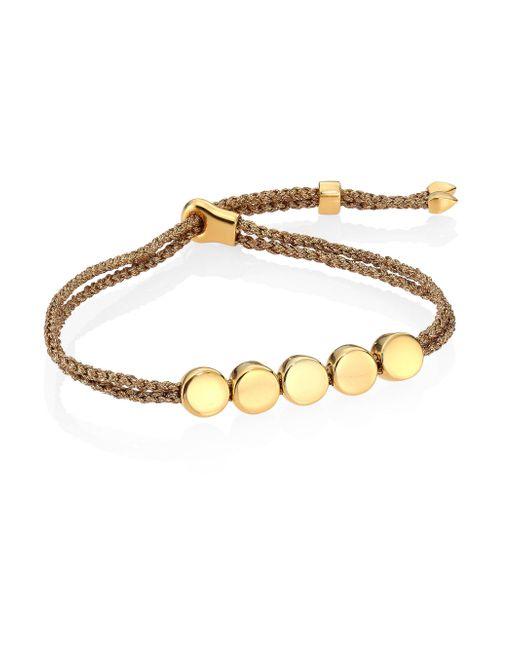 Monica Vinader | Multicolor Linear Bead Friendship Bracelet/golden Metallica | Lyst