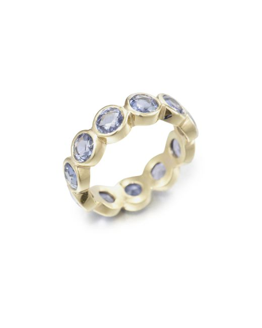 Temple St. Clair | Blue Classic Color Sapphire & 18k Yellow Gold Eternity Band Ring | Lyst