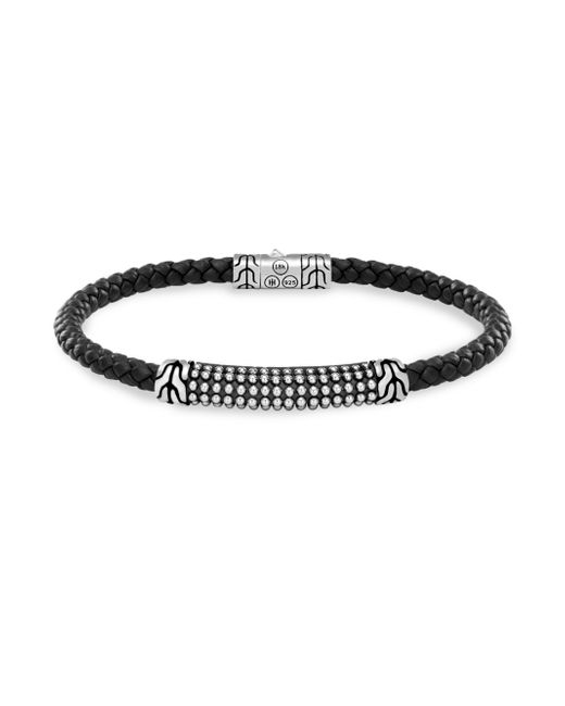 John Hardy - Black Silver Classic Braid Bracelet - Lyst