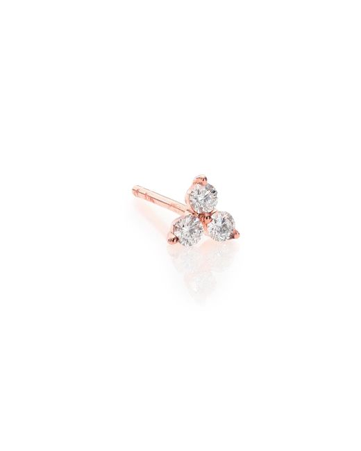 EF Collection - Metallic Diamond & 14k Rose Gold Single Stud Earring - Lyst