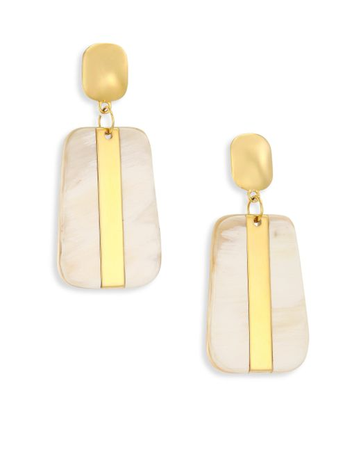 Nest | Metallic Sleek Horn Drop Earrings | Lyst