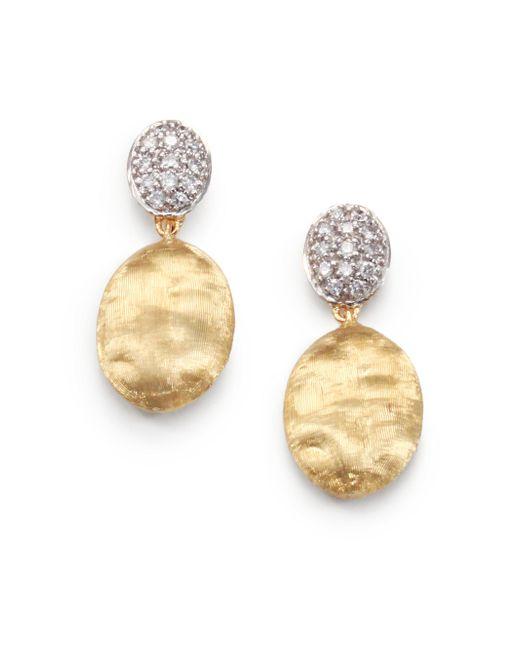 Marco Bicego | Metallic Siviglia Diamond, 18k Yellow & White Gold Drop Earrings | Lyst