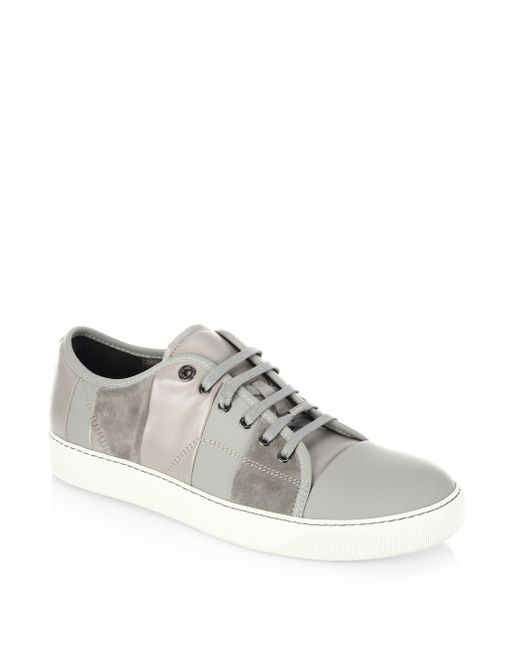 Lanvin Grey Suede Sneakers outlet store good selling cheap price discount finishline discount official AyyNcPxC