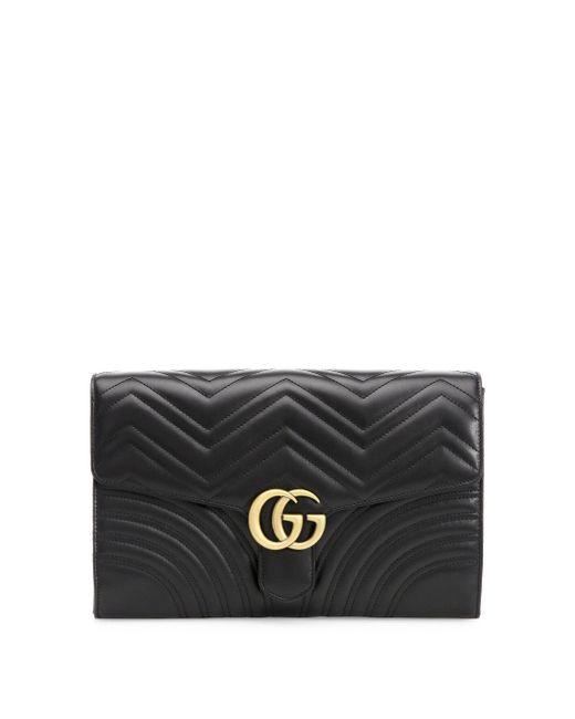 060170af3e949f Gucci Gg Marmont Matelassé Clutch in Black - Save 3% - Lyst