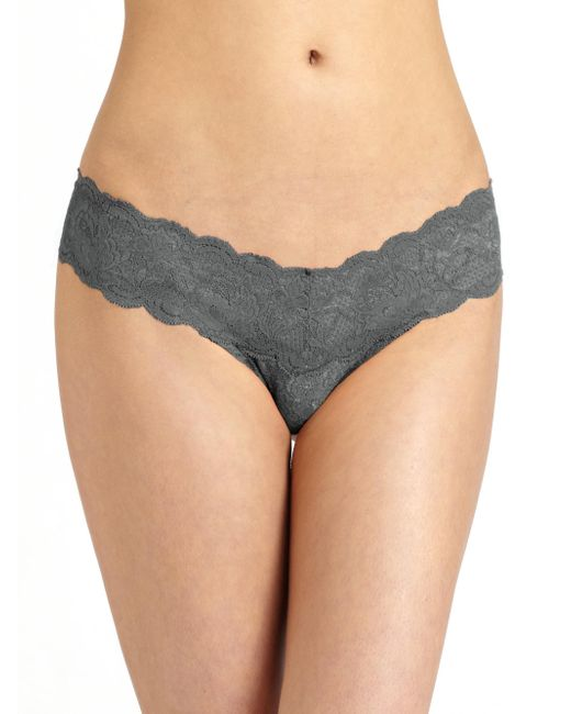Cosabella - Gray Never Say Never Cutie Low-rise Thong - Lyst