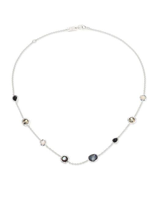Ippolita - Metallic Rock Candy Black Tie Semi-precious Multi-stone & Sterling Silver Mini Station Necklace - Lyst