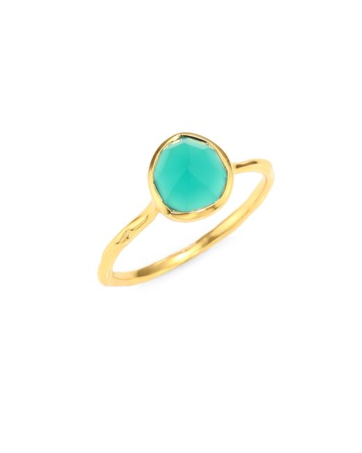 Monica Vinader - Metallic Siren Nugget Green Onyx Cocktail Ring - Lyst