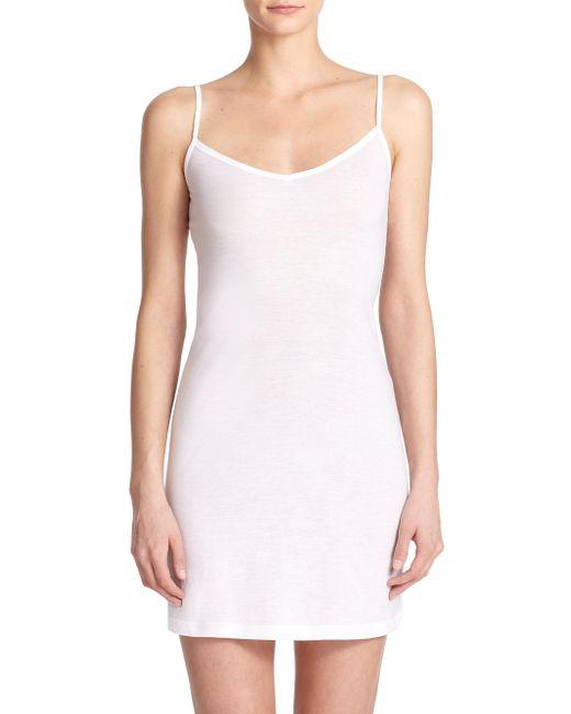 Hanro - White Ultralight Body Dress - Lyst