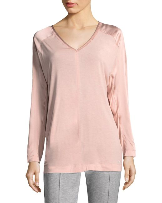 ESCADA - Pink Emantice Long-sleeve Tunic - Lyst