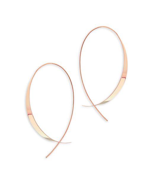 Lana Jewelry - Metallic Gloss 14k Rose Gold Upside Down Hoop Earrings - Lyst