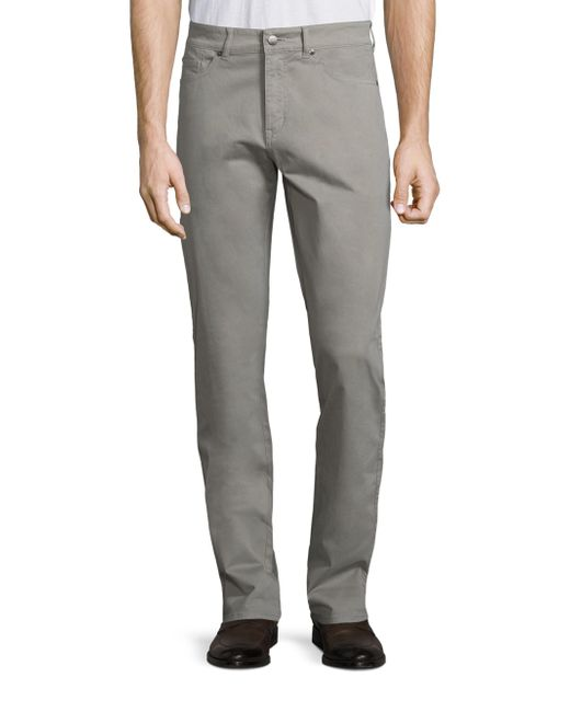 Peter Millar - Gray Crown Sateen Stretch Five-pocket Pants for Men - Lyst