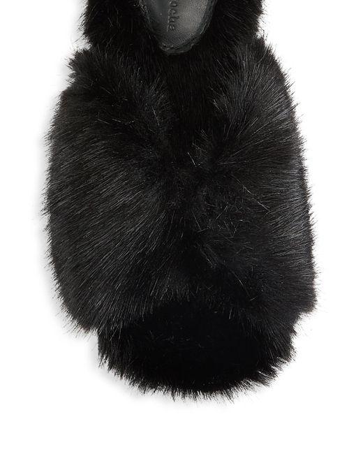 Simone Rocha Faux-Fur Bow Slides Drmvvh