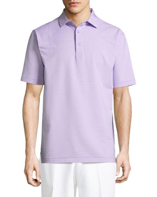 Peter Millar - Purple Jubilee Striped Polo for Men - Lyst