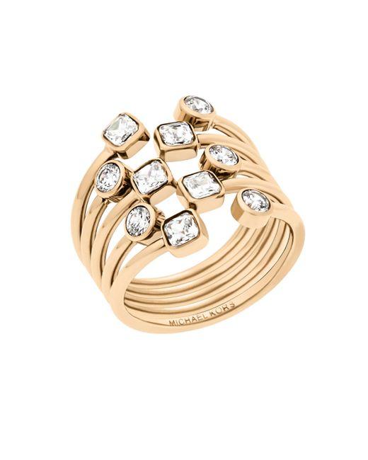 Michael Kors - Metallic Modern Brilliance Crystal Ring/goldtone - Lyst