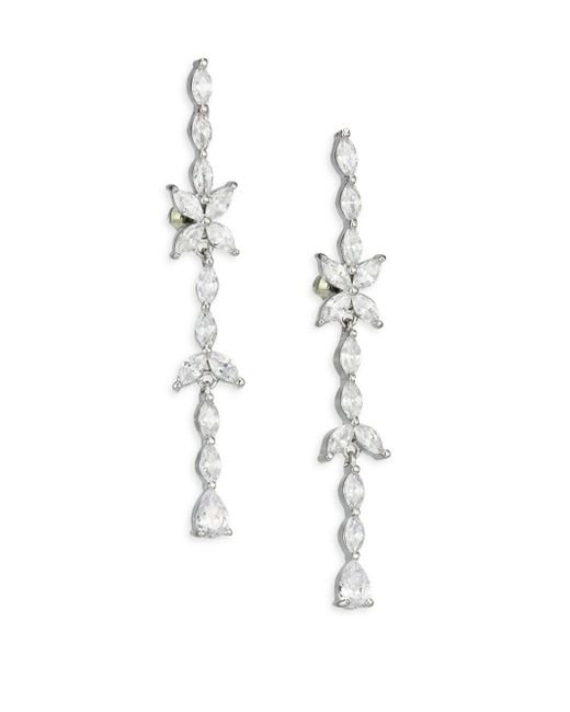 Fallon | Metallic Monarch Marquis Crystal Matchstick Drop Earrings | Lyst