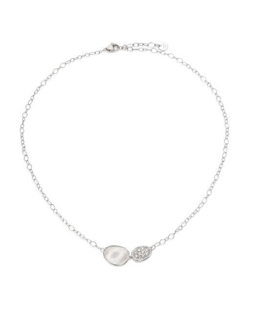Marco Bicego - Metallic Lunaria Diamond & 18k White Gold Pendant Necklace - Lyst