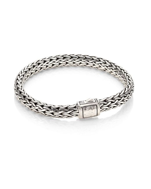 John Hardy | Metallic Classic Chain Medium Hammered Sterling Silver Chain Bracelet | Lyst