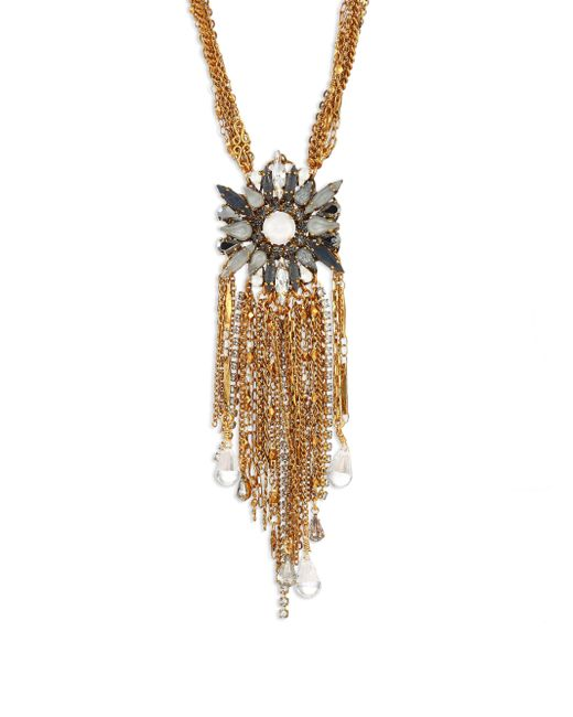 Erickson Beamon | Metallic War Of The Roses Swarovski Crystal Fringe Necklace | Lyst