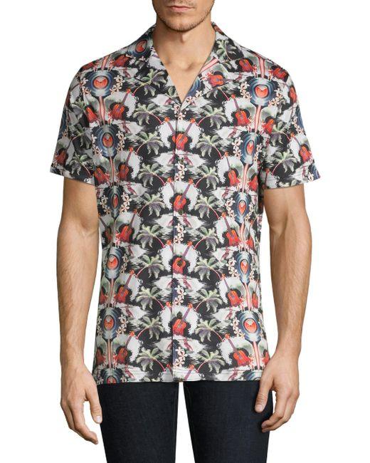 ac8d7ef6c ... Robert Graham - Multicolor Men's Guitar Camp Short-sleeve Print Shirt -  Size Small for ...