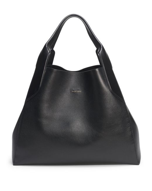 Lanvin - Black Structured Leather Tote - Lyst