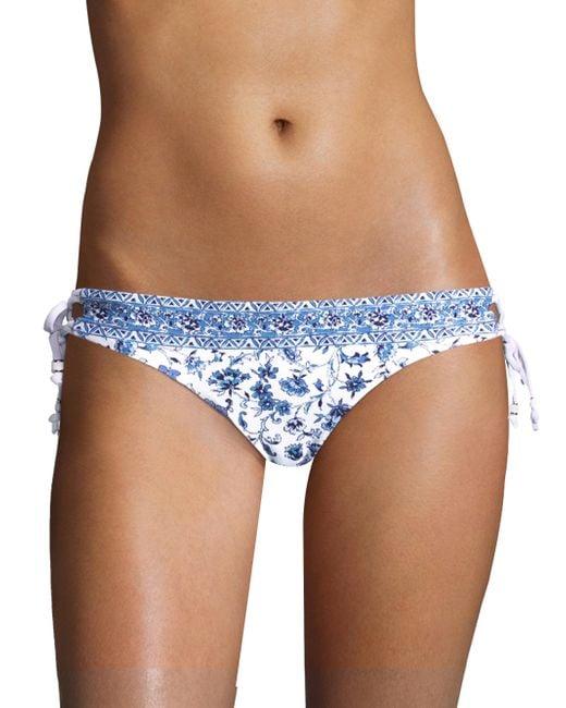 Shoshanna - Blue Paisley Bikini Bottom - Lyst