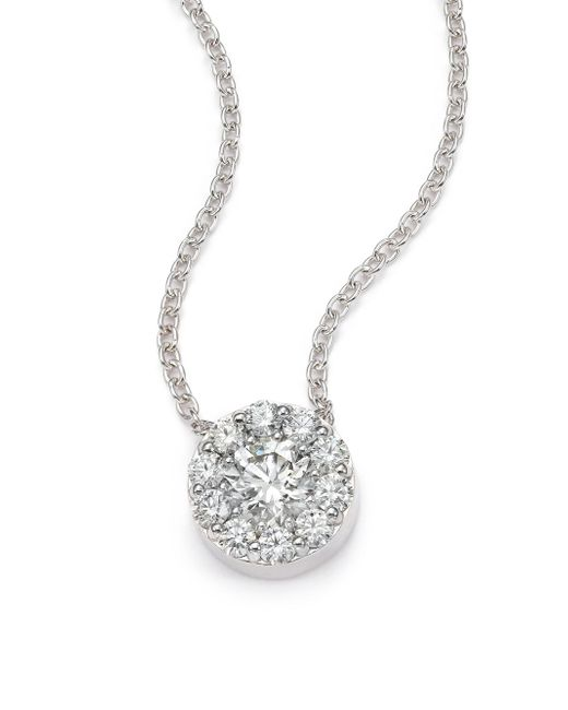 Hearts On Fire | Metallic Fulfillment Diamond & 18k White Gold Pendant Necklace | Lyst