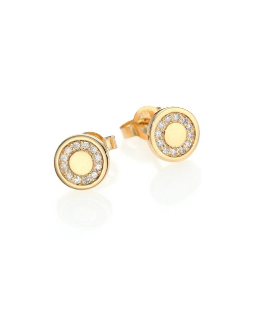 Astley Clarke | Metallic Cosmos Diamond & 14k Yellow Gold Mini Stud Earrings | Lyst