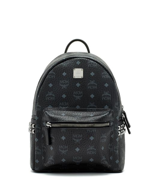 MCM - Black Stark Side Stud Medium Coated Canvas Backpack - Lyst