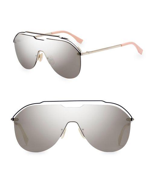 097a0178d44 Fendi Metallic Shield Sunglasses in Metallic for Men - Lyst