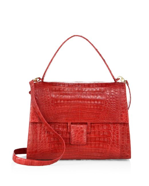 Nancy Gonzalez | Red Medium Kelly Crocodile Top-handle Bag | Lyst