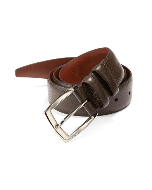 Saks Fifth Avenue | Brown Tumbled Leather Belt for Men | Lyst