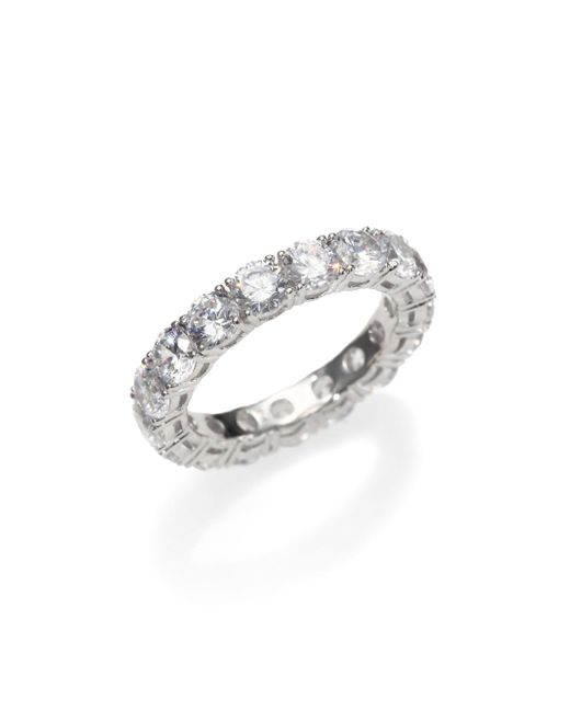 Adriana Orsini - Metallic Sterling Silver Eternity Band Ring - Lyst